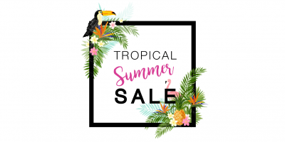 tropical summer sale