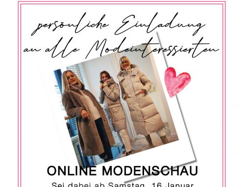 Einladung zur Online Modenschau